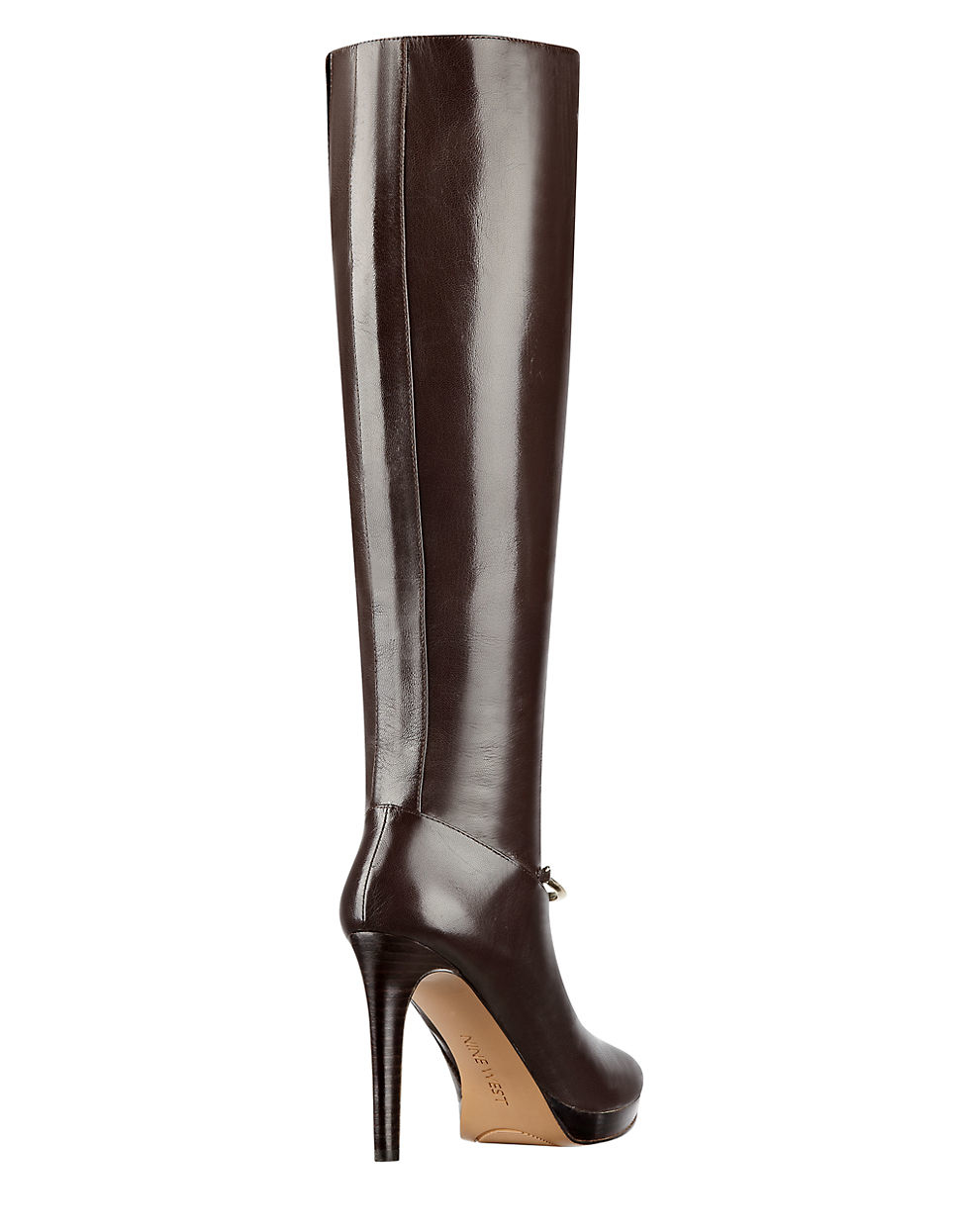 f98b822e06a9 Nine West Pearson Knee-high Platform Leather Boots in Brown - Lyst