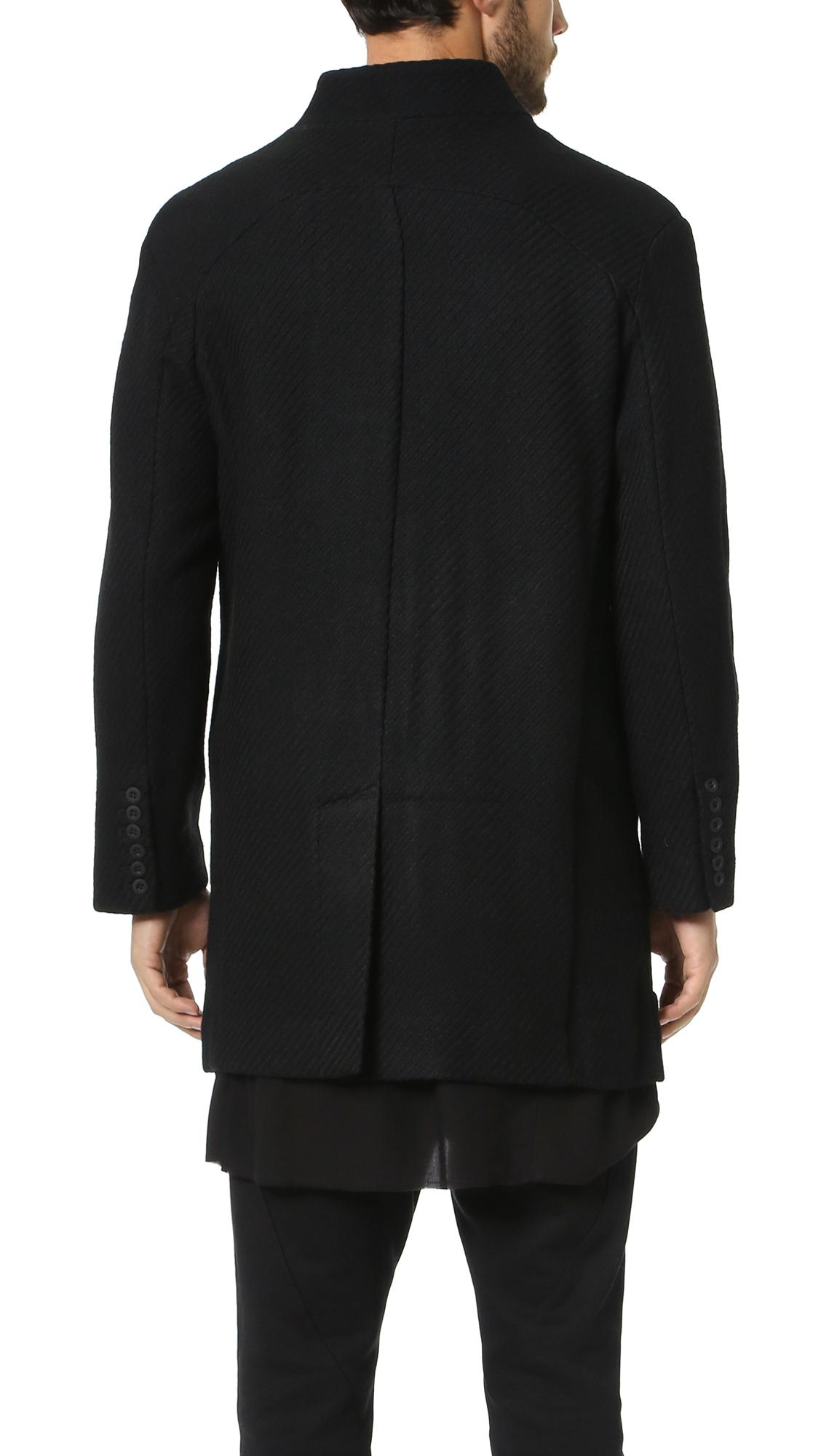 Chapter Sebastian Wool Coat In Black For Men | Lyst