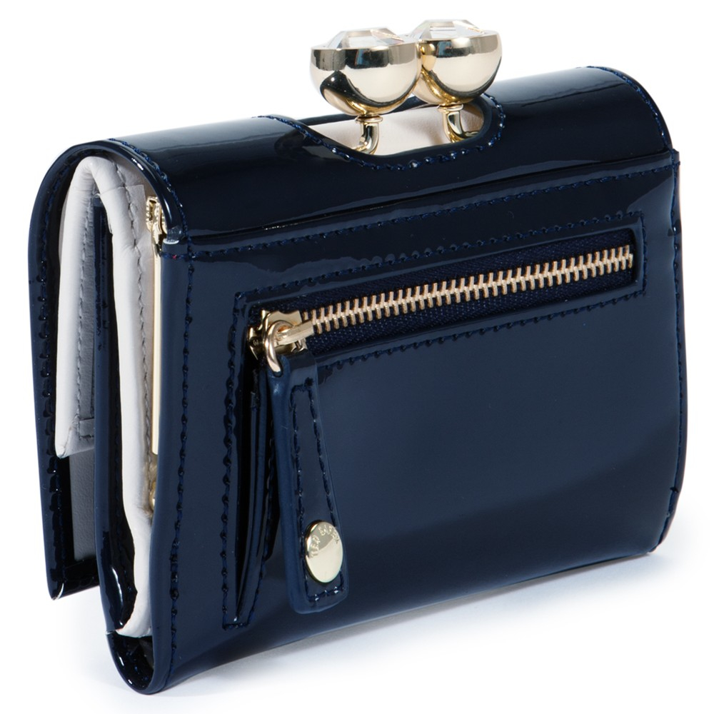 9ad12de57a41 Ted Baker Shyla Bobble Small Leather Purse In Blue Lyst