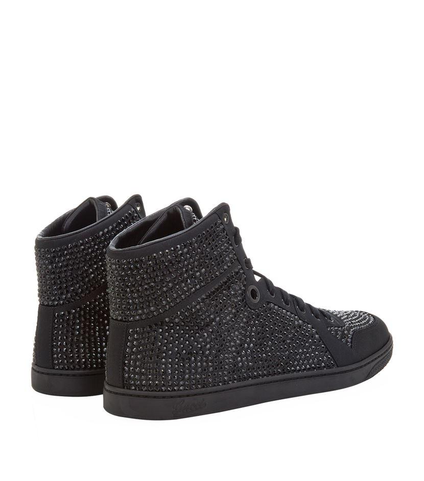 31c9da29a9f1 Gucci Coda Bling High-top Sneaker in Black for Men - Lyst