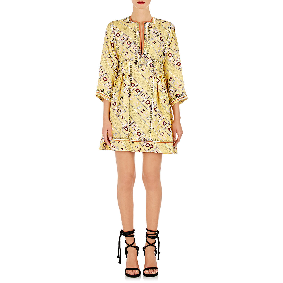 side tie V-neck dress - Yellow & Orange Isabel Marant koFtt