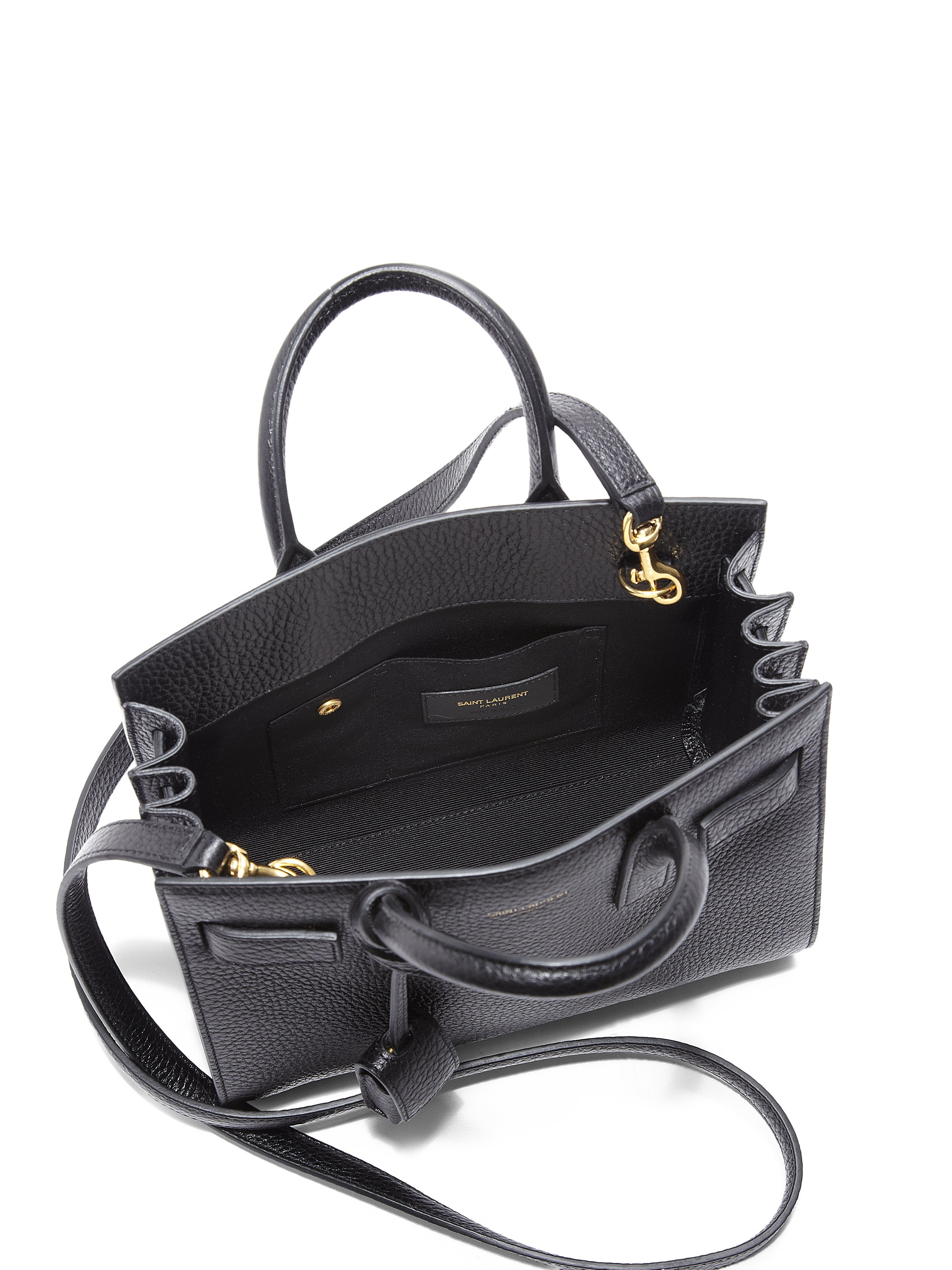 ysl cabas chyc leather tote - yves saint laurent baby sac de jour with embellishment, yves saint ...