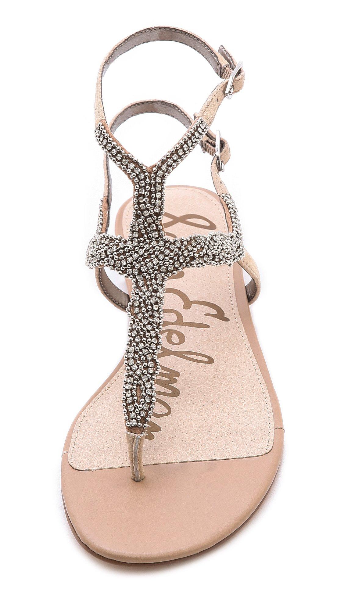 1944faa4fe6c Lyst - Sam Edelman Nahara Jeweled Sandals Buff Nude in Brown