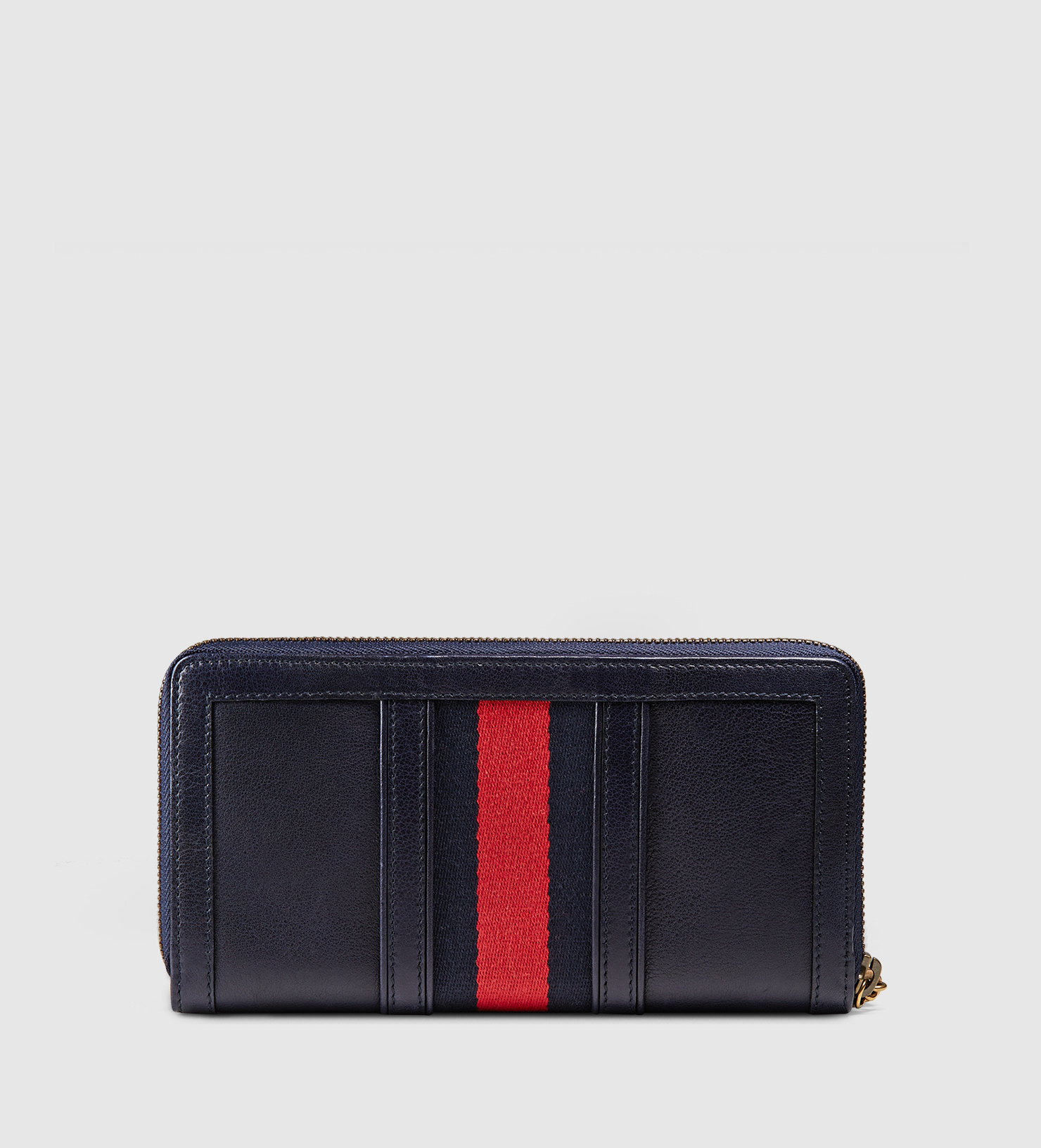 7170fe2798ad Lyst - Gucci Rania Leather Zip Around Wallet in Blue