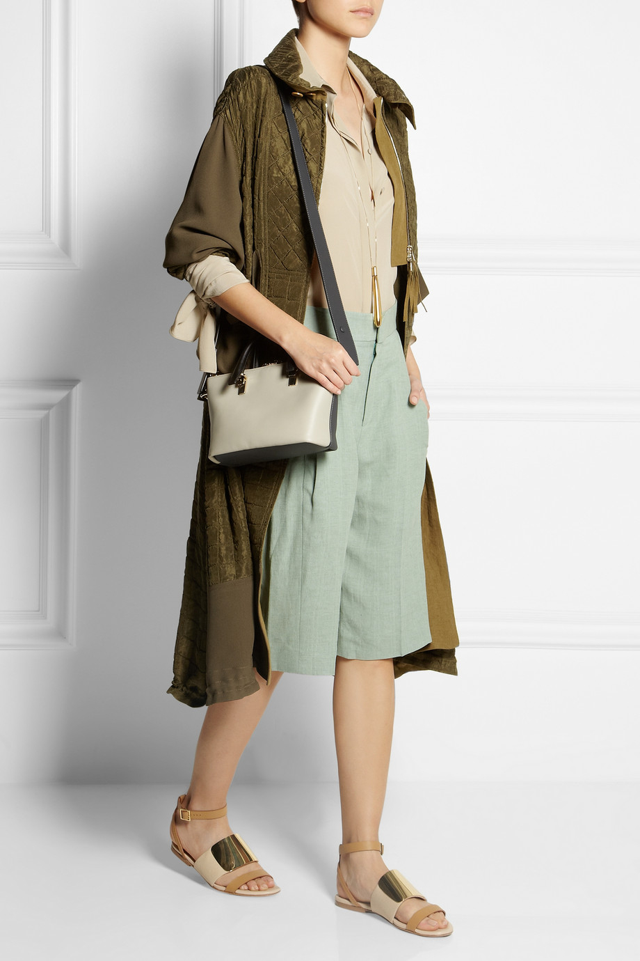 chloe white leather handbag