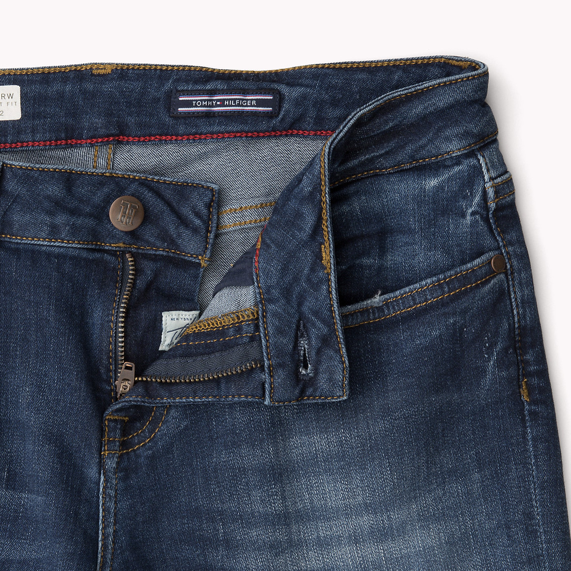 837fbfc6 Tommy Hilfiger Rome Straight Fit Jeans in Blue - Lyst