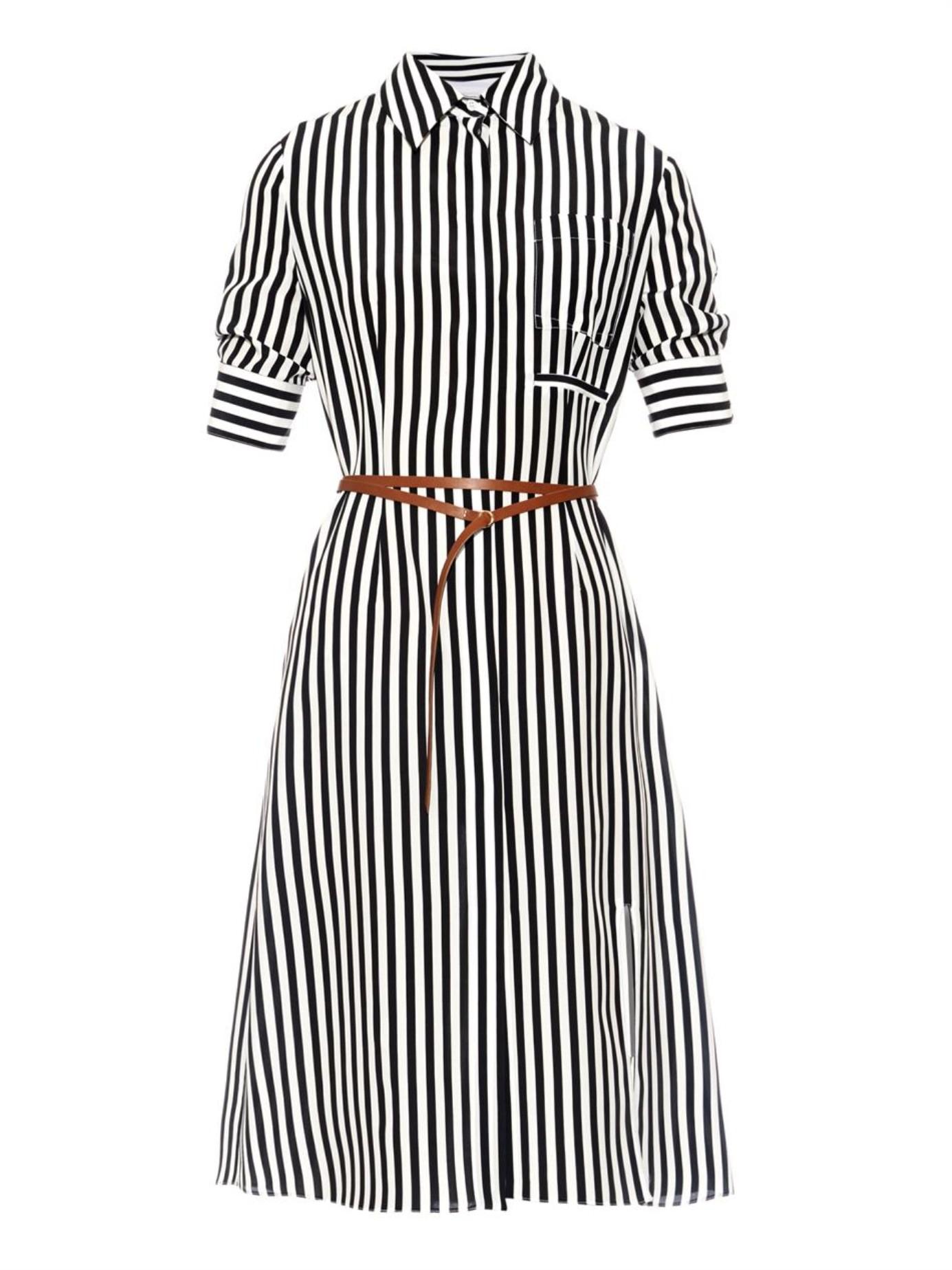 Black Altuzarra In Lyst Shirtdress Striped Kieran 17qaX6