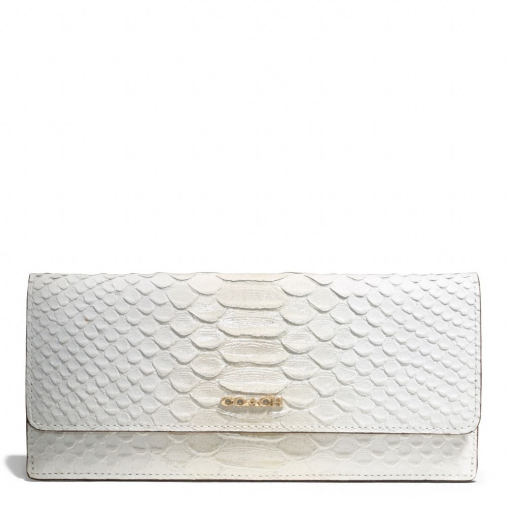 Coach Madison Pinnacle Soft Wallet In Pythonembossed