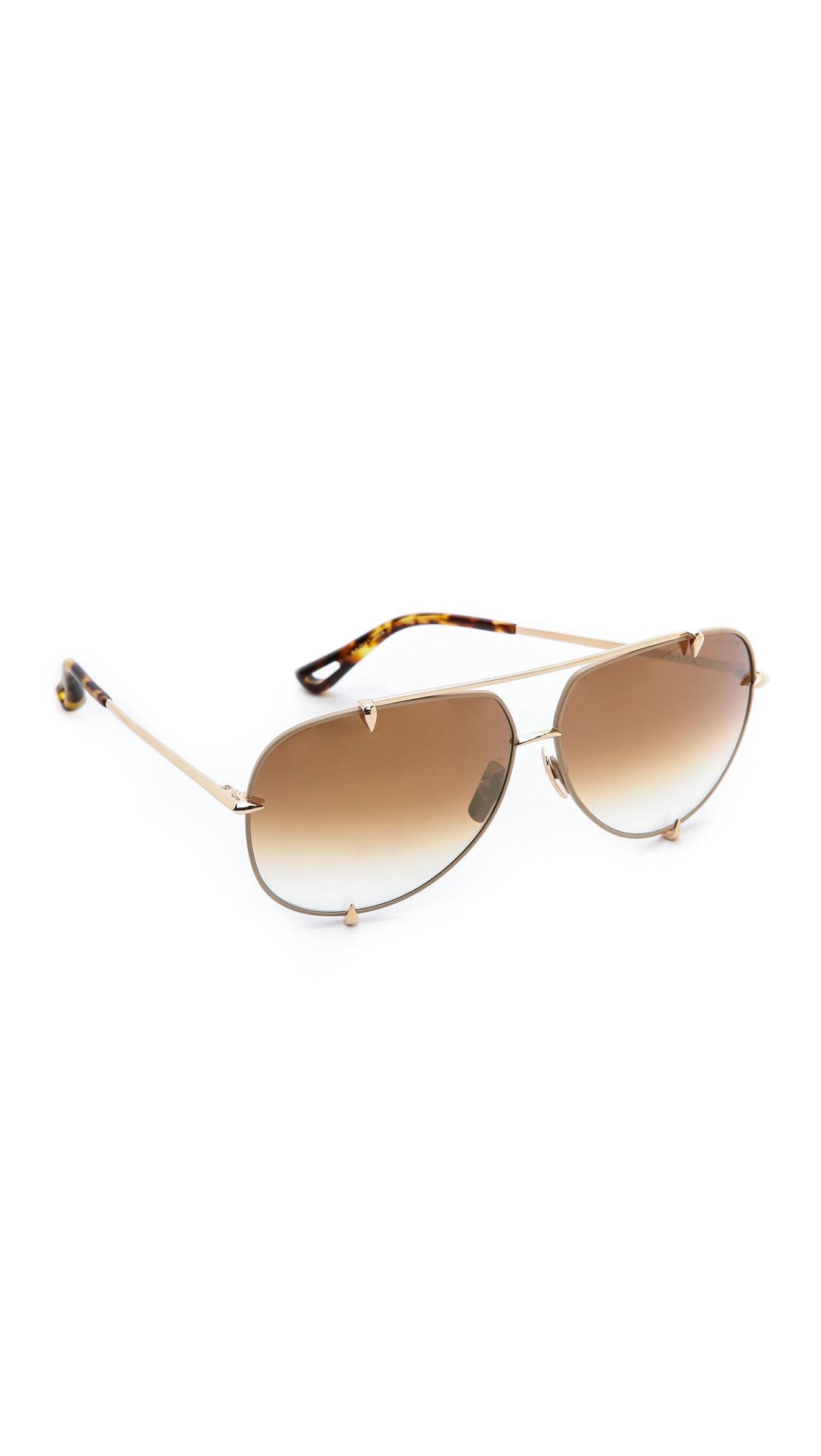 25b087850 DITA Talon Sunglasses - Satin Tan/Gold/Brown To Clear in Metallic - Lyst