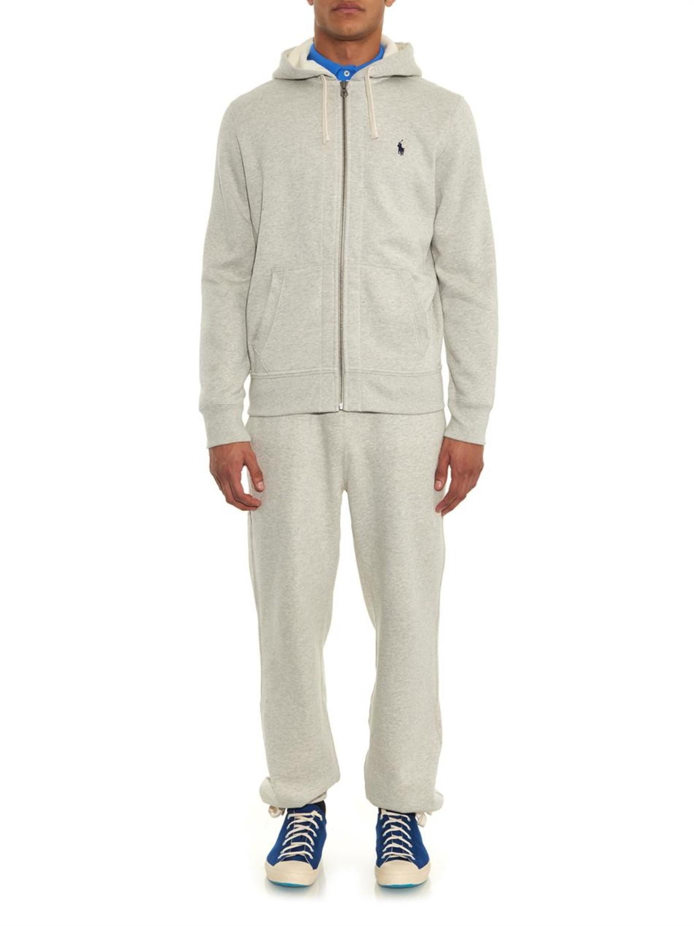 Polo Ralph Lauren   Gray Zip-up Hooded Sweatshirt for Men   Lyst. View Fullscreen