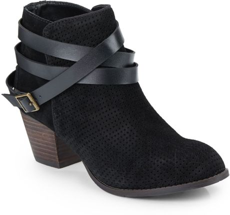 Dolce Vita Jevey Suede Ankle Boots in Black