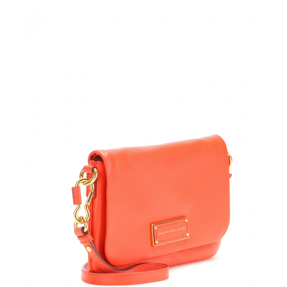 ac4dcf21f3ee Lyst - Marc By Marc Jacobs Flap Percy Leather Shoulder Bag in Orange