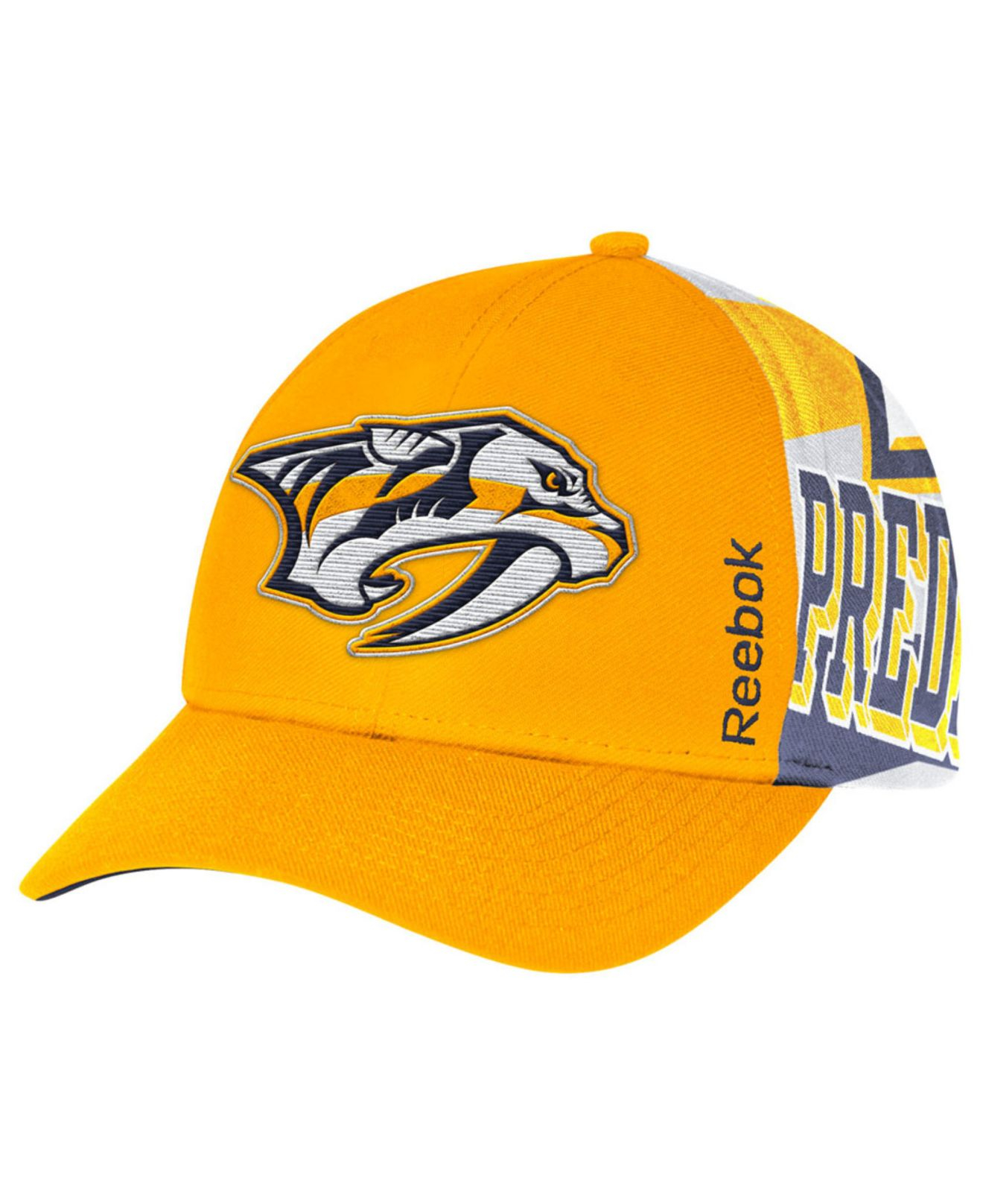 35dd01f5687 Lyst - Reebok Kids  Nashville Predators Playoff Cap in Orange