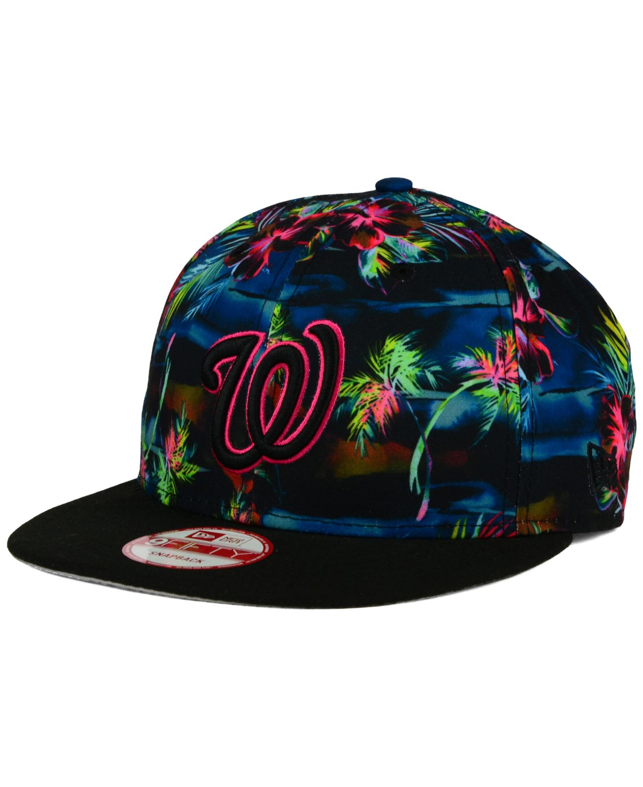 cdf09687555 ... clearance lyst ktz washington nationals dark tropic 9fifty snapback cap  in 48ad0 cf852