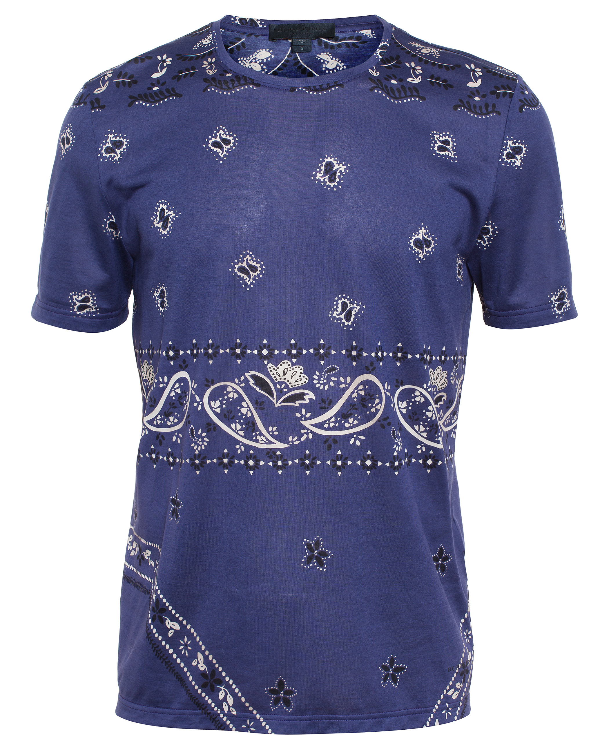 Lyst Burberry Prorsum Paisley Print T Shirt In Blue For Men