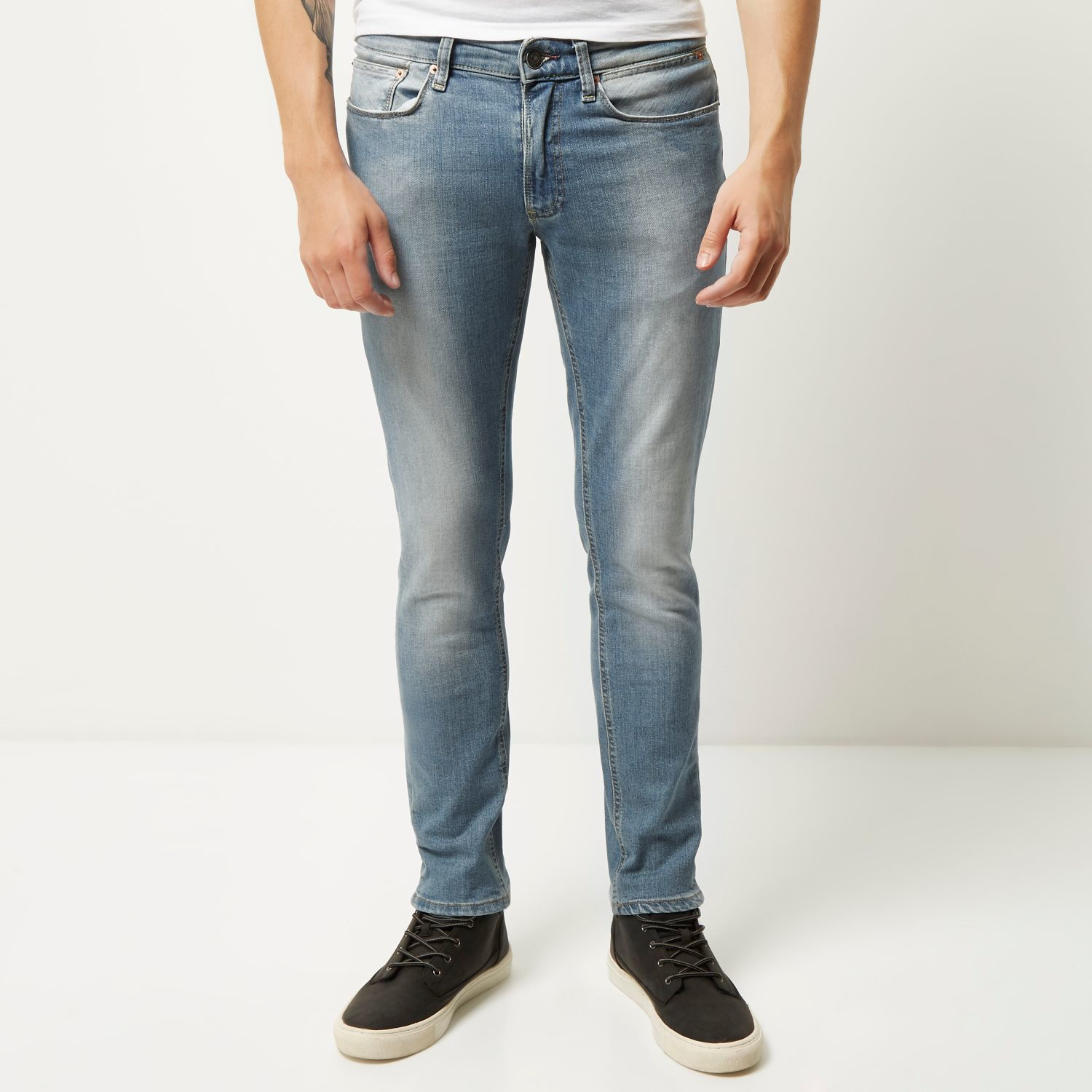 Mens Grey wash Sid skinny jeans River Island Outlet With Mastercard 8gTUs