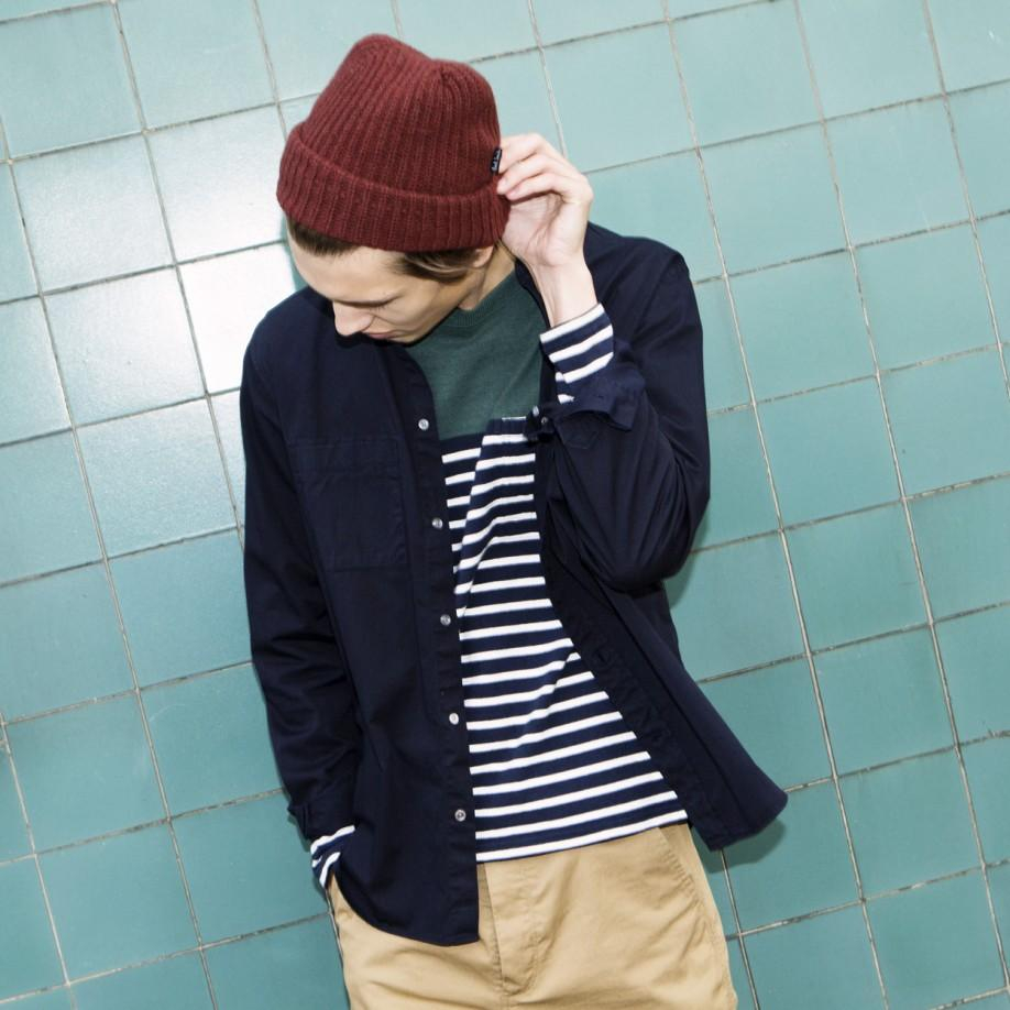 Lyst paul smith navy and white stripe textured long for Blue and white striped long sleeve t shirt
