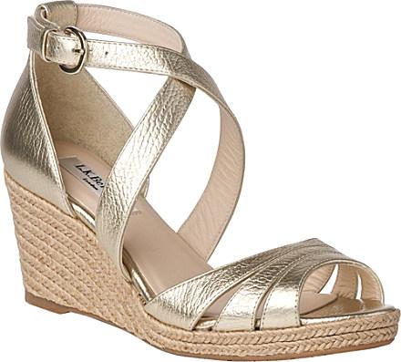 b0a305c9741 L.K.Bennett Priya Espadrille Wedge Sandals - For Women in Metallic ...