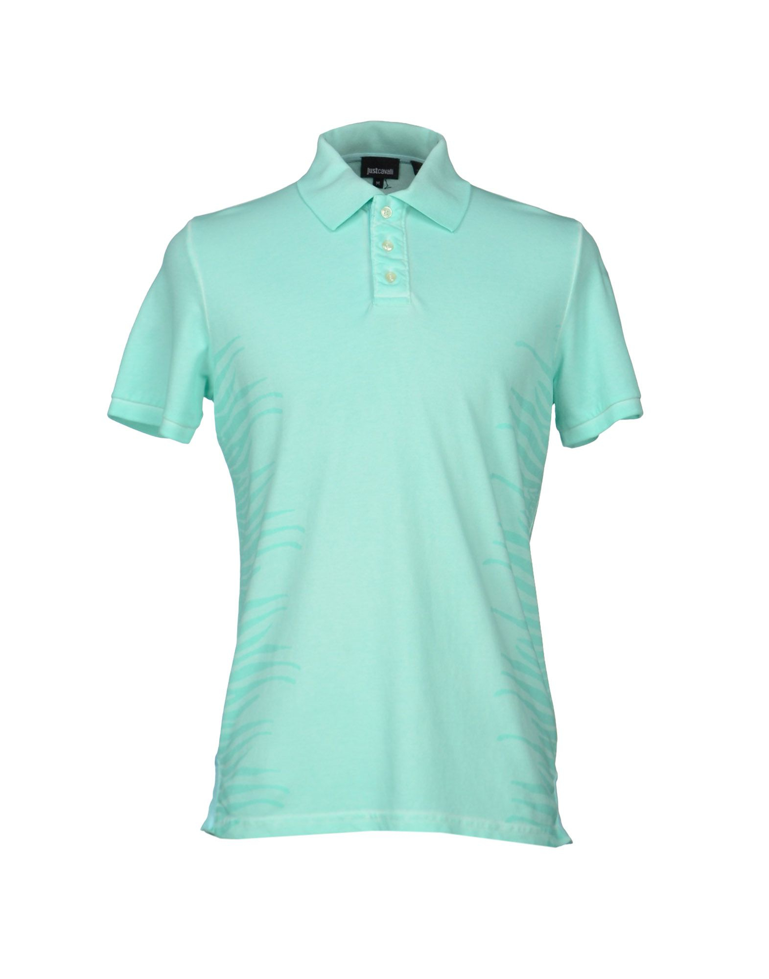Just cavalli polo shirt in teal for men light green lyst for Mens teal polo shirt