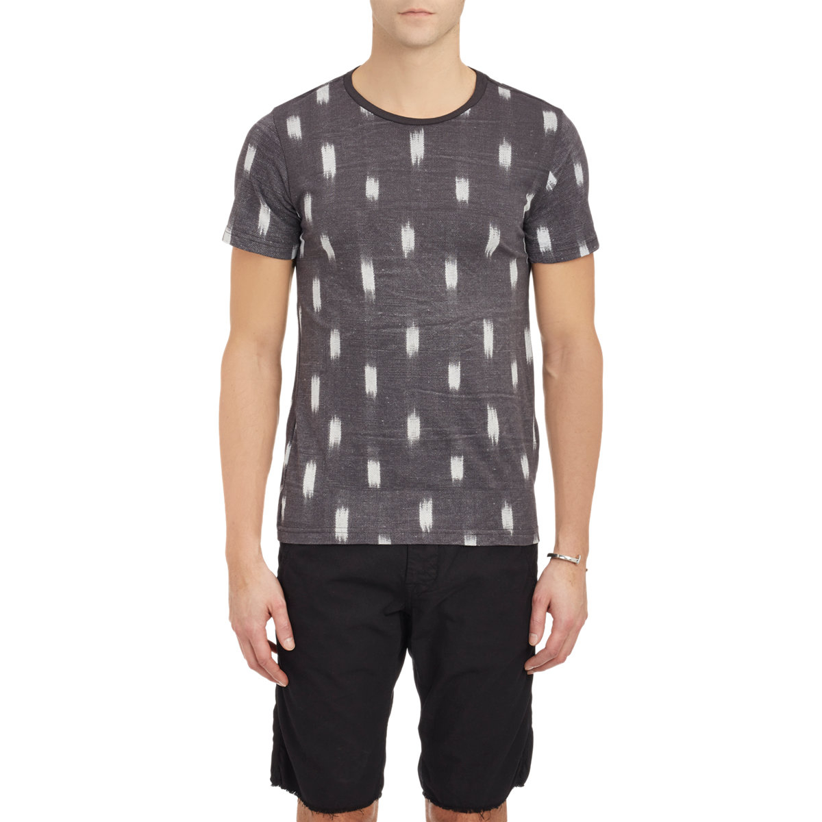 Lyst barneys new york brushstroke print t shirt black for New york printed t shirts