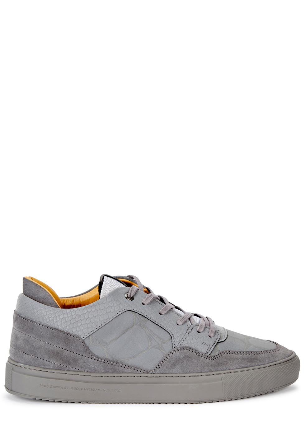 78830f94c872 Android Homme Omega Grey Reflective Leather Trainers in Gray for Men ...