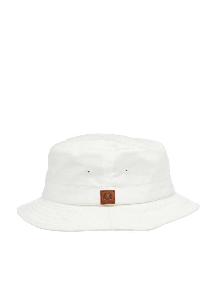 lyst fred perry classic bucket hat in white for men Oakley Gascan Sunglasses Clear gallery