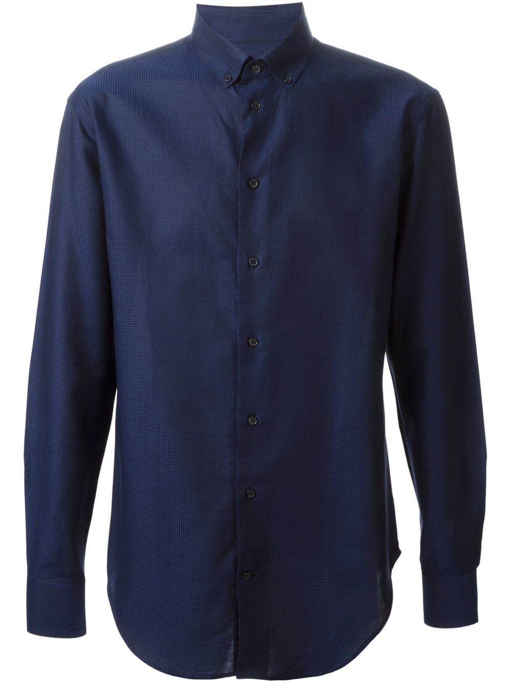 Armani Button Down Shirt In Blue For Men Lyst