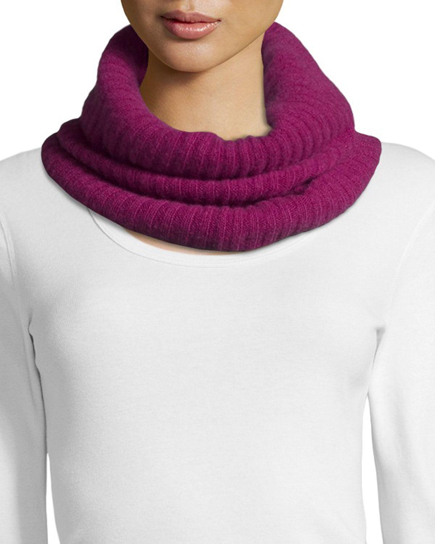 portolano ribbed infinity scarf in purple lyst