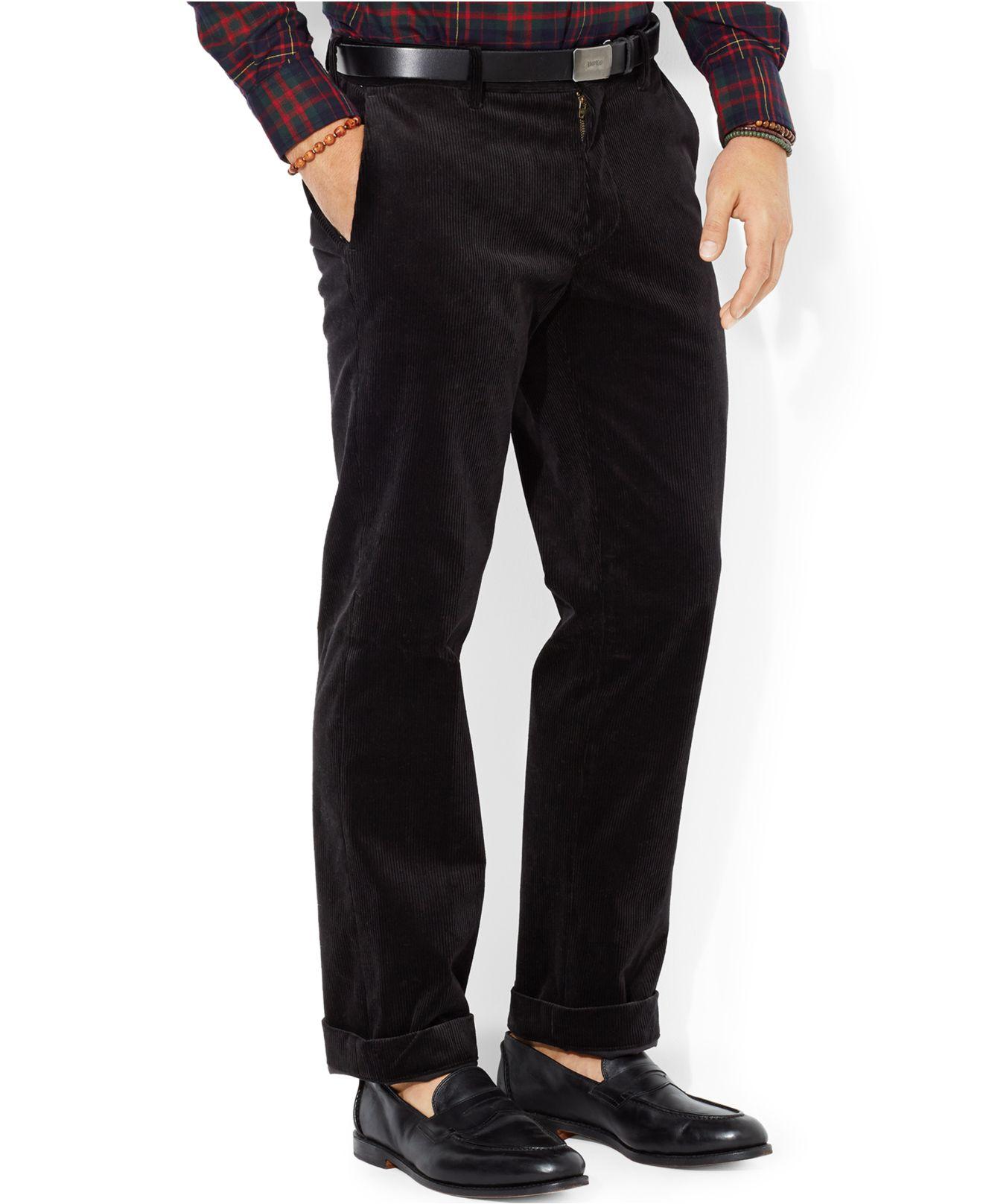Polo ralph lauren Classic-Fit Newport Corduroy Pants in Black for ...