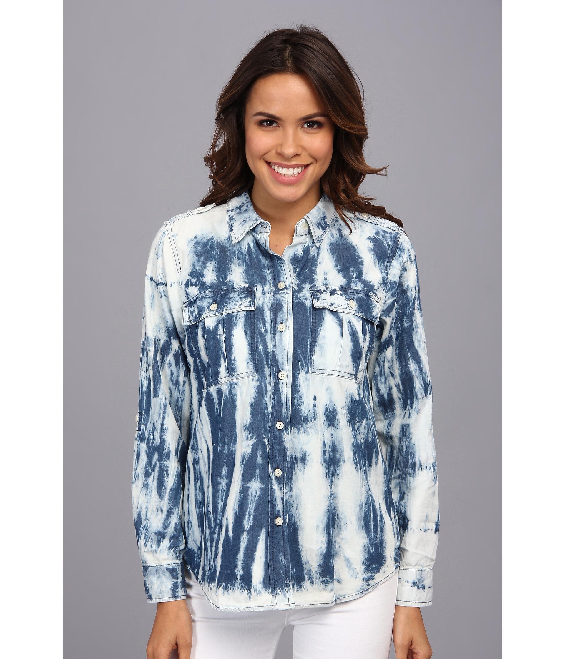 1b2fba75999 MICHAEL Michael Kors Vintage Tie Dye Denim Shirt in Blue - Lyst