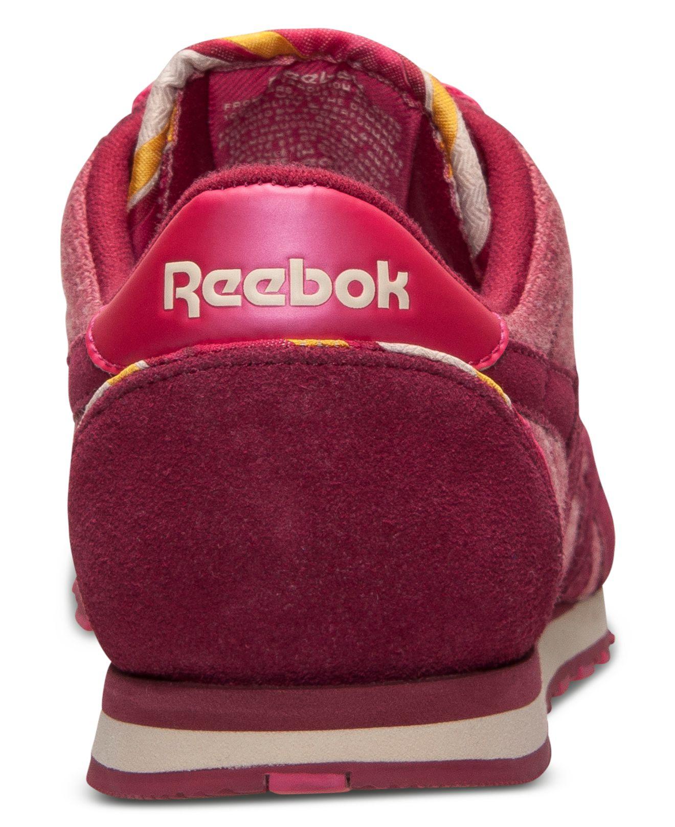 b2e896e98dc Lyst - Reebok Women S Classic Nylon Slim Jacquard Casual Sneakers ...
