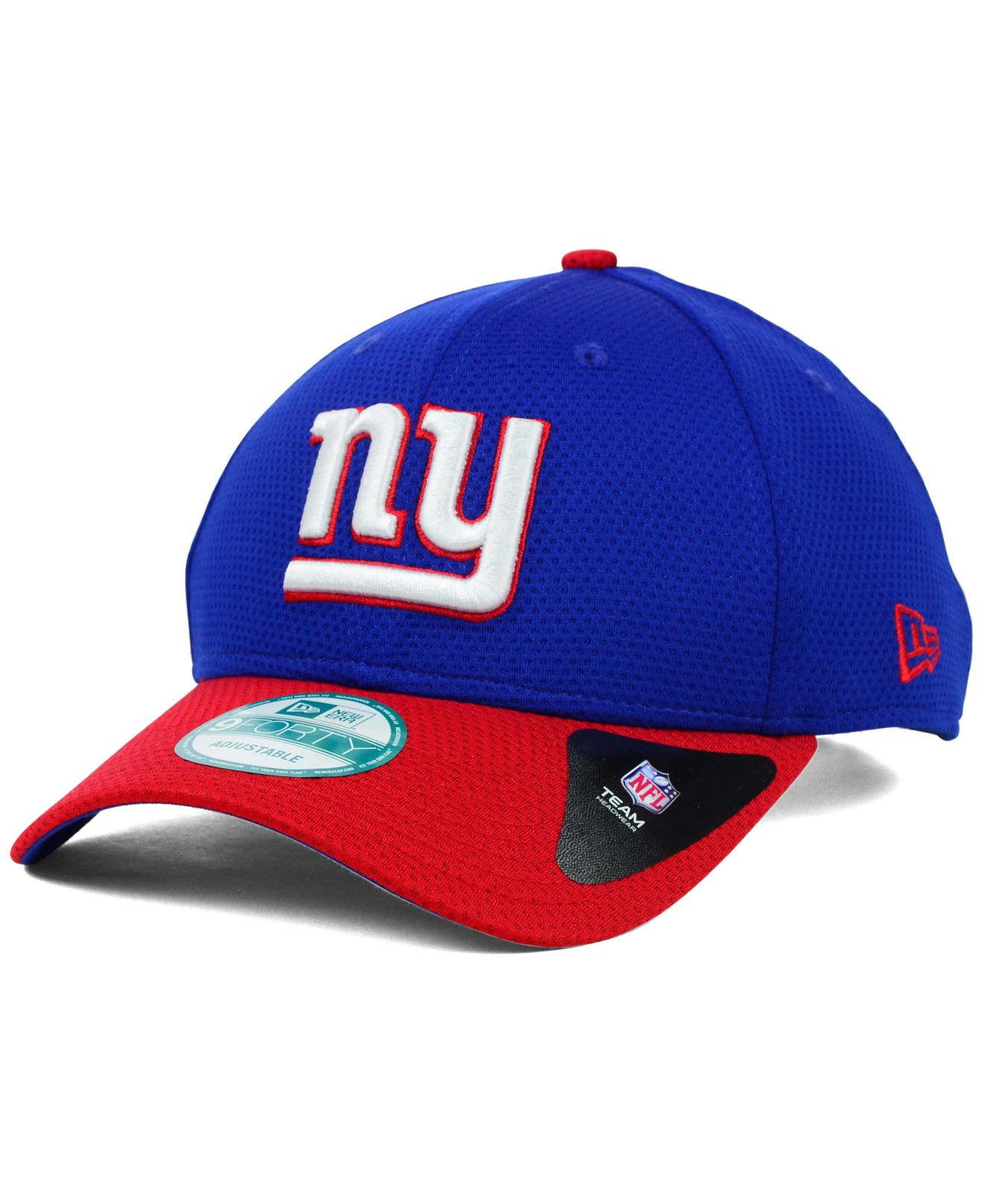 lyst ktz new york giants fundamental tech 9forty cap in blue. Black Bedroom Furniture Sets. Home Design Ideas