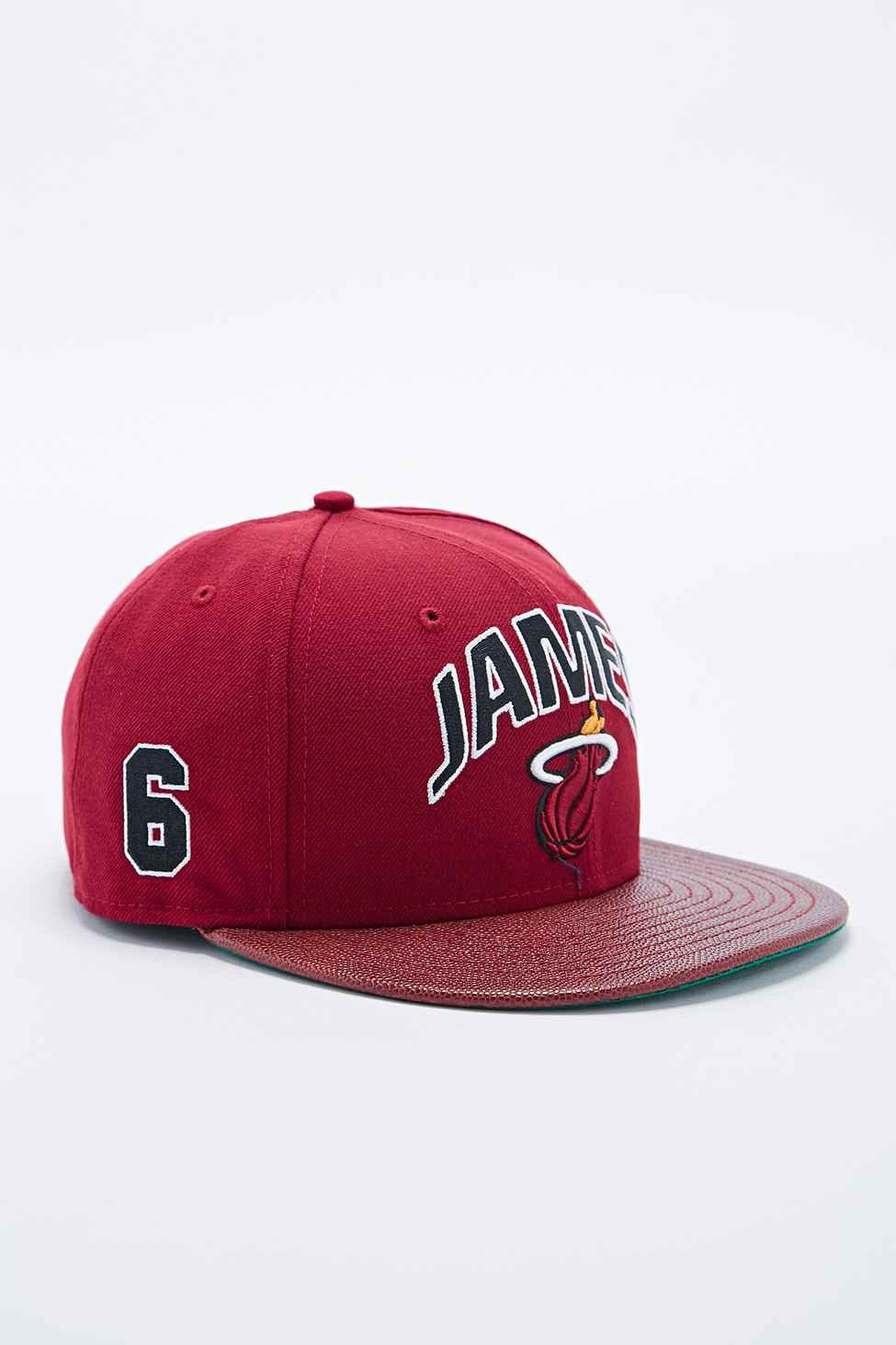 7be65a69666 KTZ 9fifty Lebron James Snapback Cap in Burgundy in Red for Men - Lyst