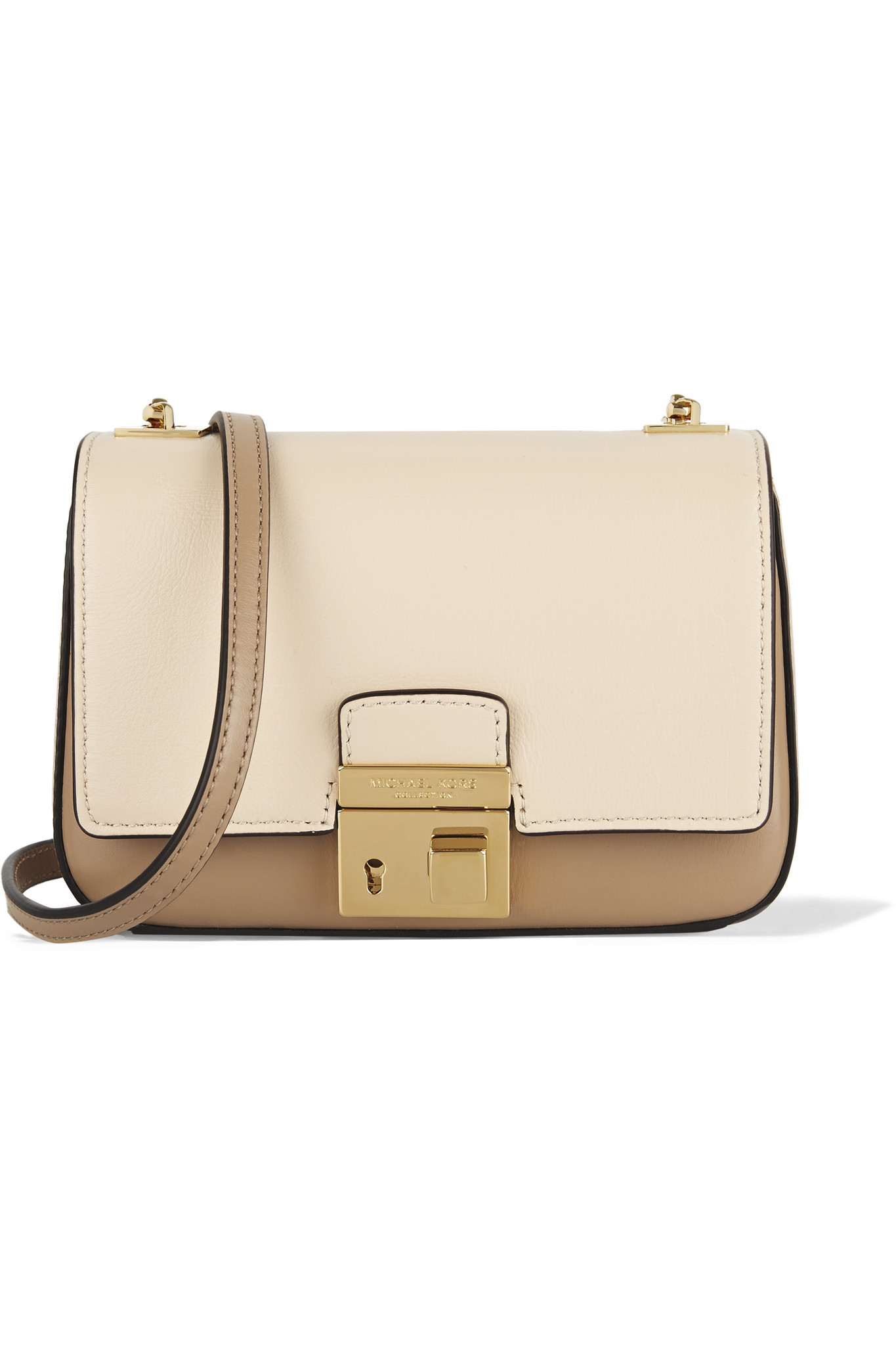 f48f963ac43a Lyst - Michael Kors - Gia Small Two-tone Leather Shoulder Ba ...