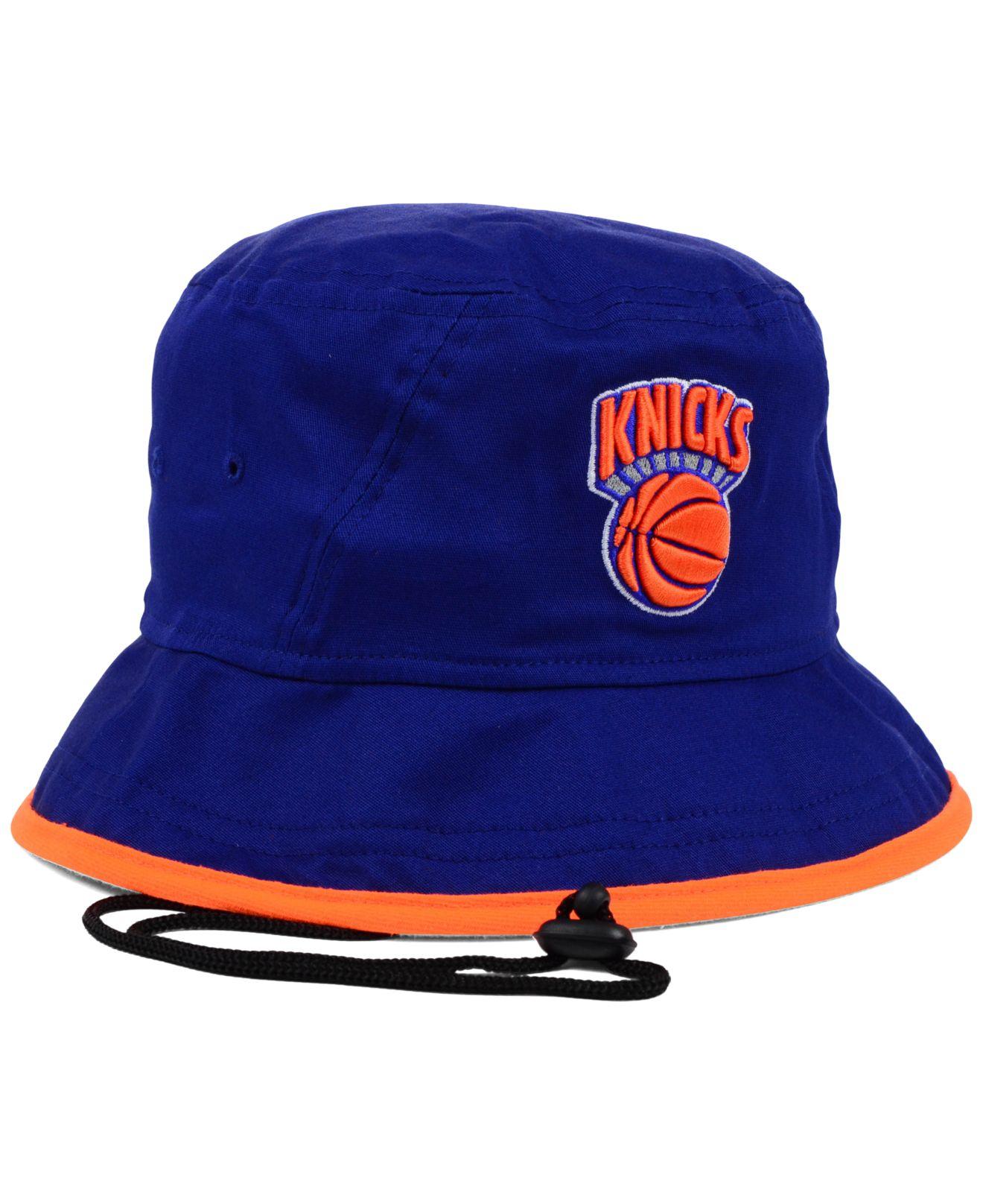 0803772b48c Lyst - KTZ New York Knicks Hardwood Classics Tipped Bucket Hat in ...