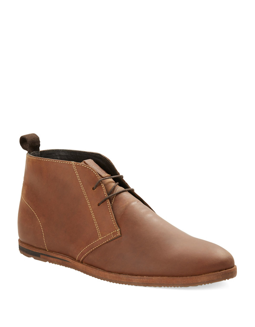 ben sherman leather chukka boots in brown for lyst