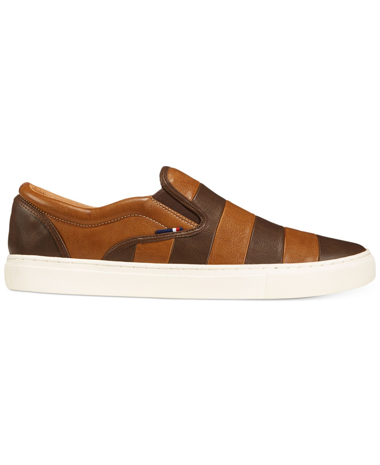 tommy hilfiger mustang 2 slip on sneakers in brown for men lyst. Black Bedroom Furniture Sets. Home Design Ideas
