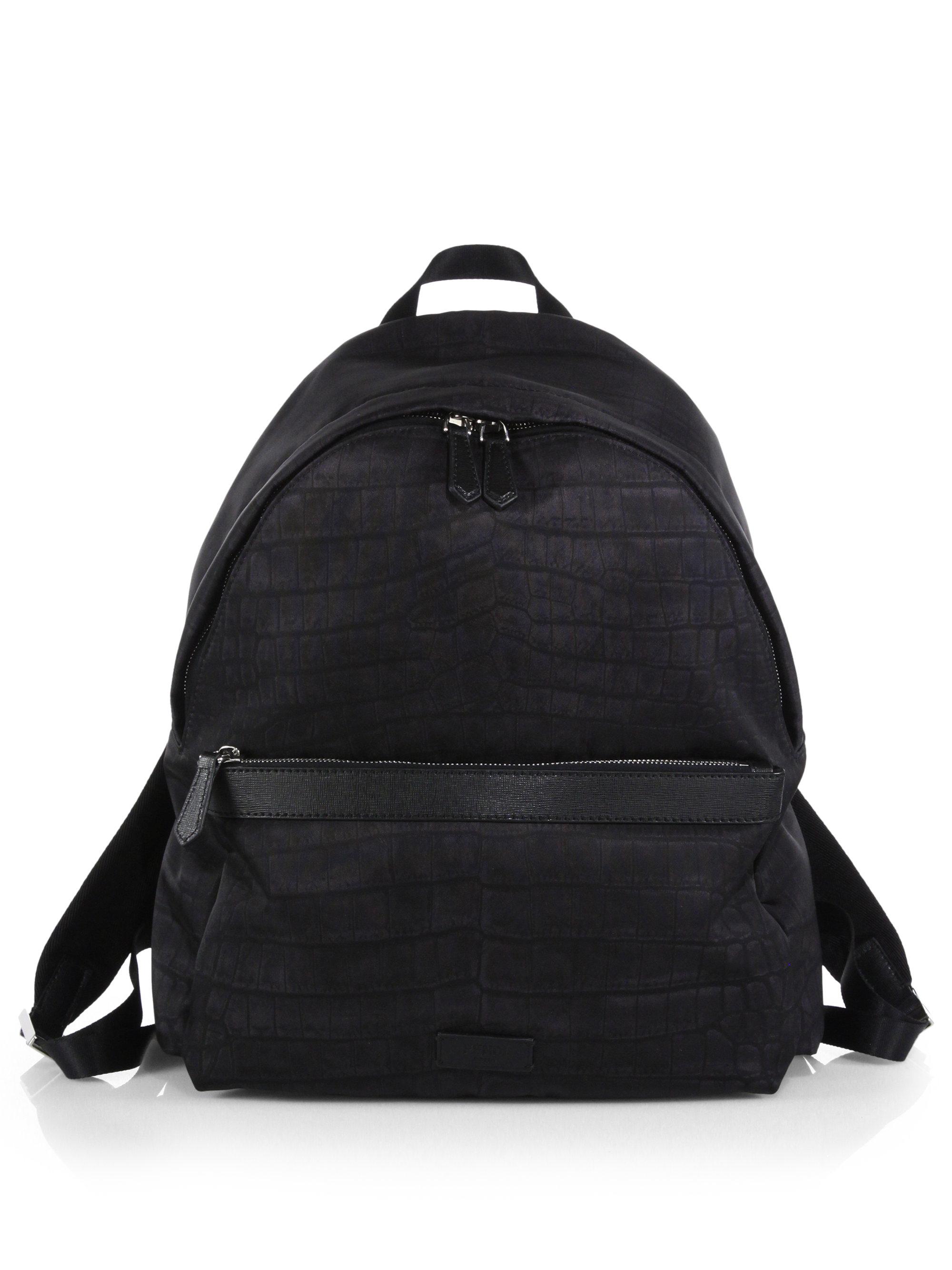 Black leather gloves asos - Fendi Zaino Nylon Amp Leather Backpack In Black For Men Lyst