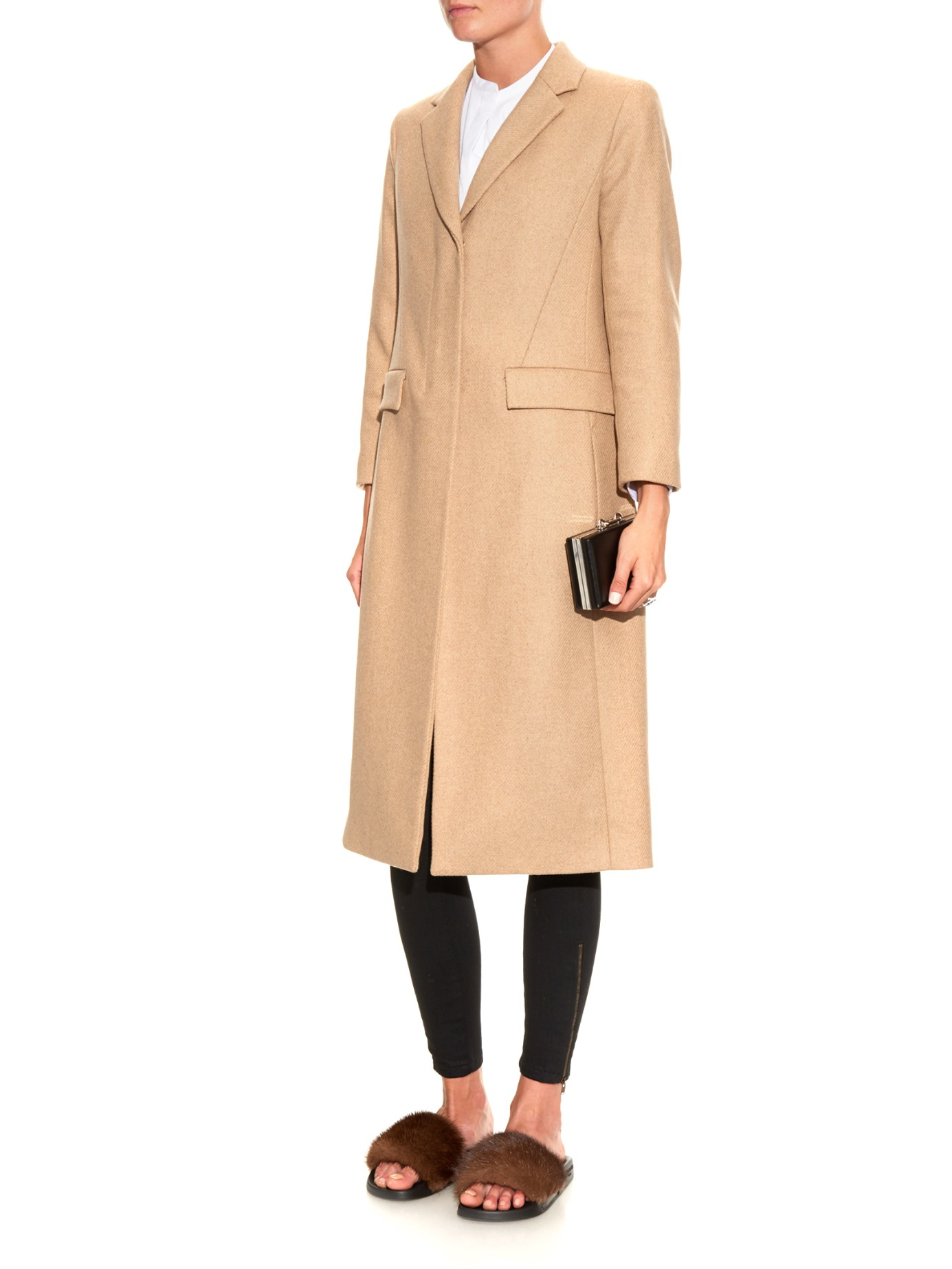 6d7fac0cb2ba Lyst - Givenchy Fur Sandals in Black
