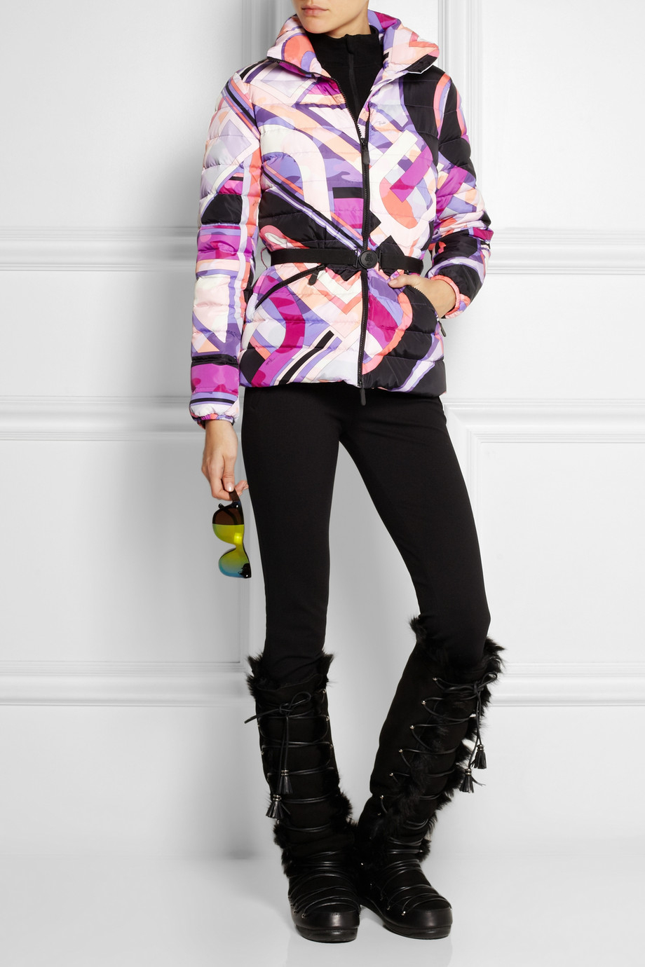 47e95221c230 Lyst - Emilio Pucci Quilted Printed Shell Down Jacket
