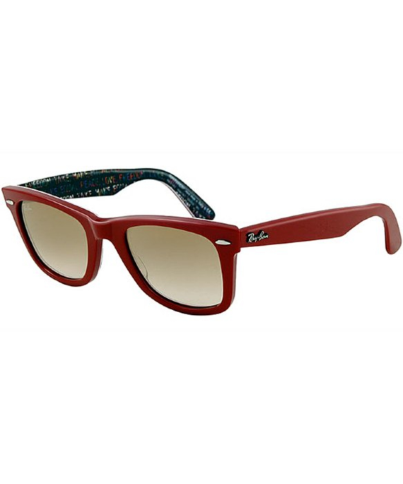 red ray ban glasses  Ray-ban Ray Ban Rb2140 Original Wayfarer 109151 Top Red On Freedom ...