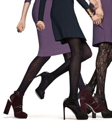 Knit Tights Pattern : Wolford Adelia Open Knit-pattern Sheer Tights in Black Lyst
