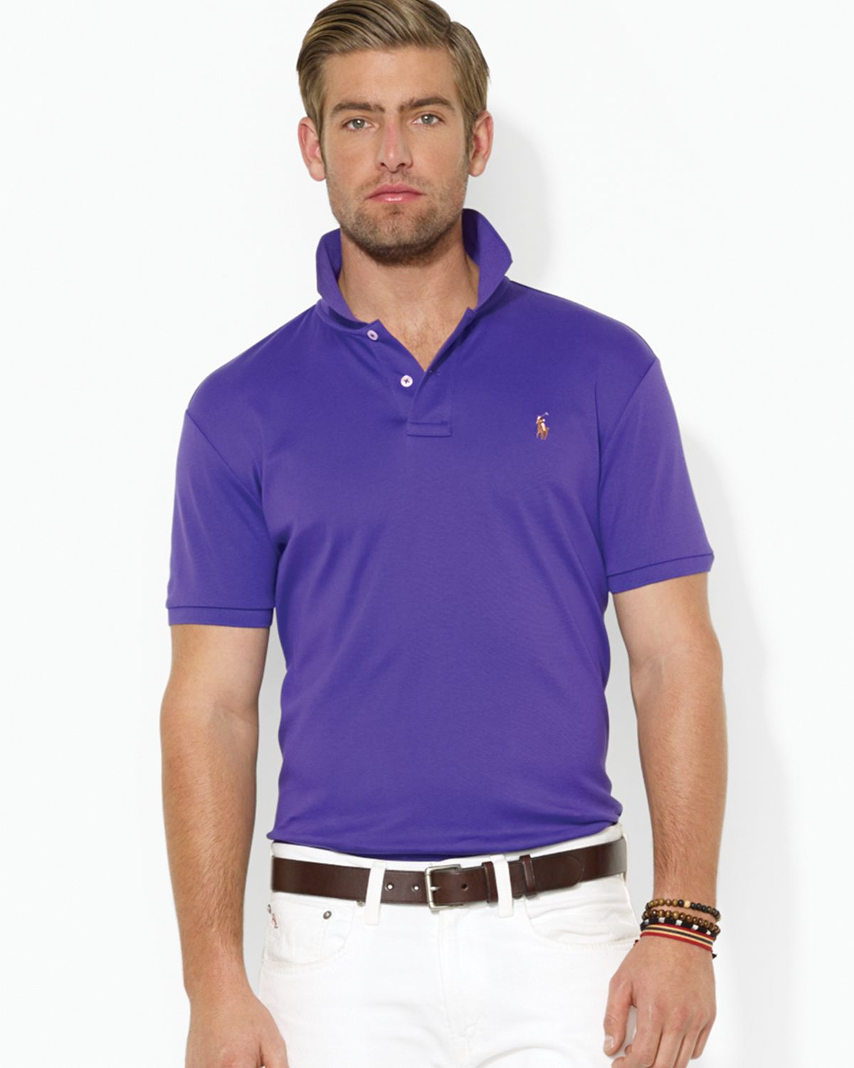 fdc3a861 Ralph Lauren Pima Soft Touch Regular Fit Polo in Purple for Men - Lyst