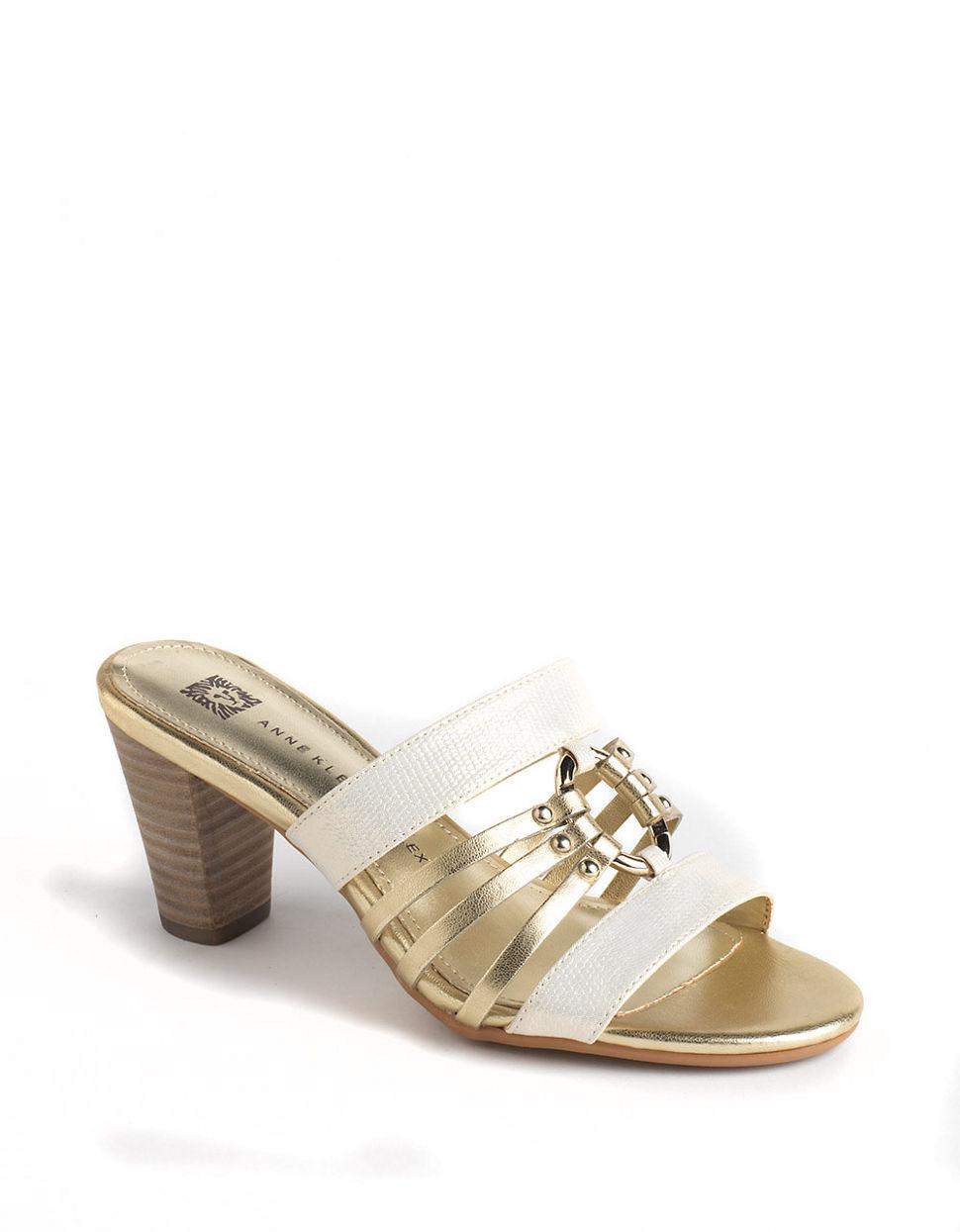 d8a61b19f0 Lyst - Anne Klein Orian Sandals in Metallic