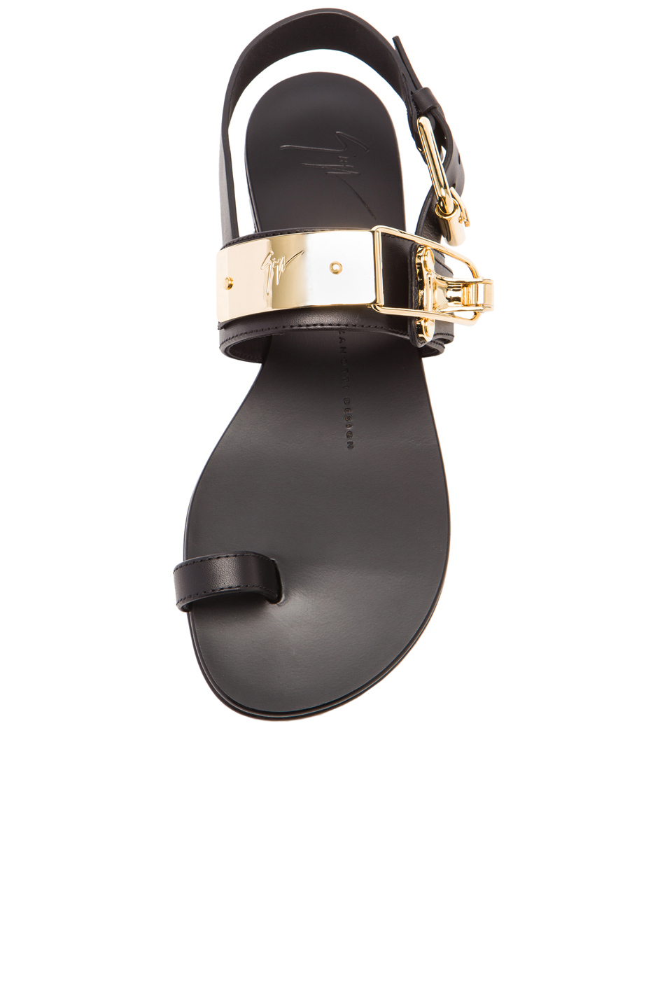 Giuseppe Zanotti Embellished Leather Sandals In Black Lyst