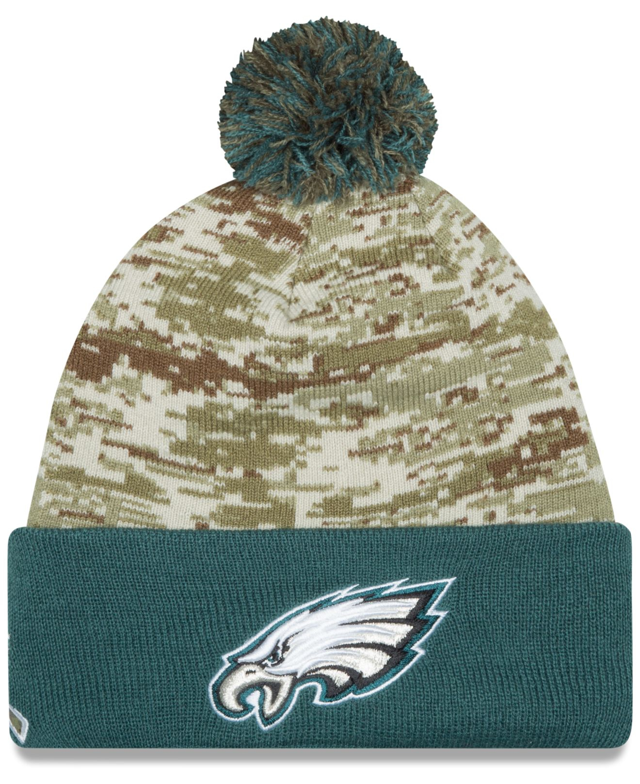 0ad4b483 ... amazon lyst ktz philadelphia eagles salute to service knit hat in green  09fd7 abc3a