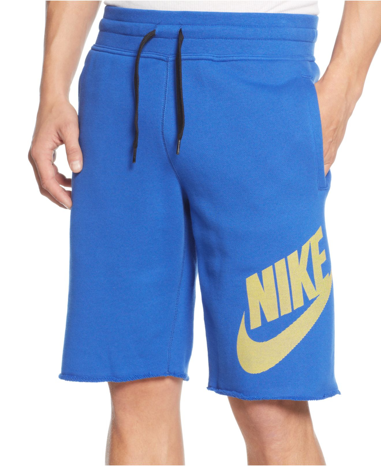 Nike Alumni Drawstring Shorts in Blue for Men | Lyst
