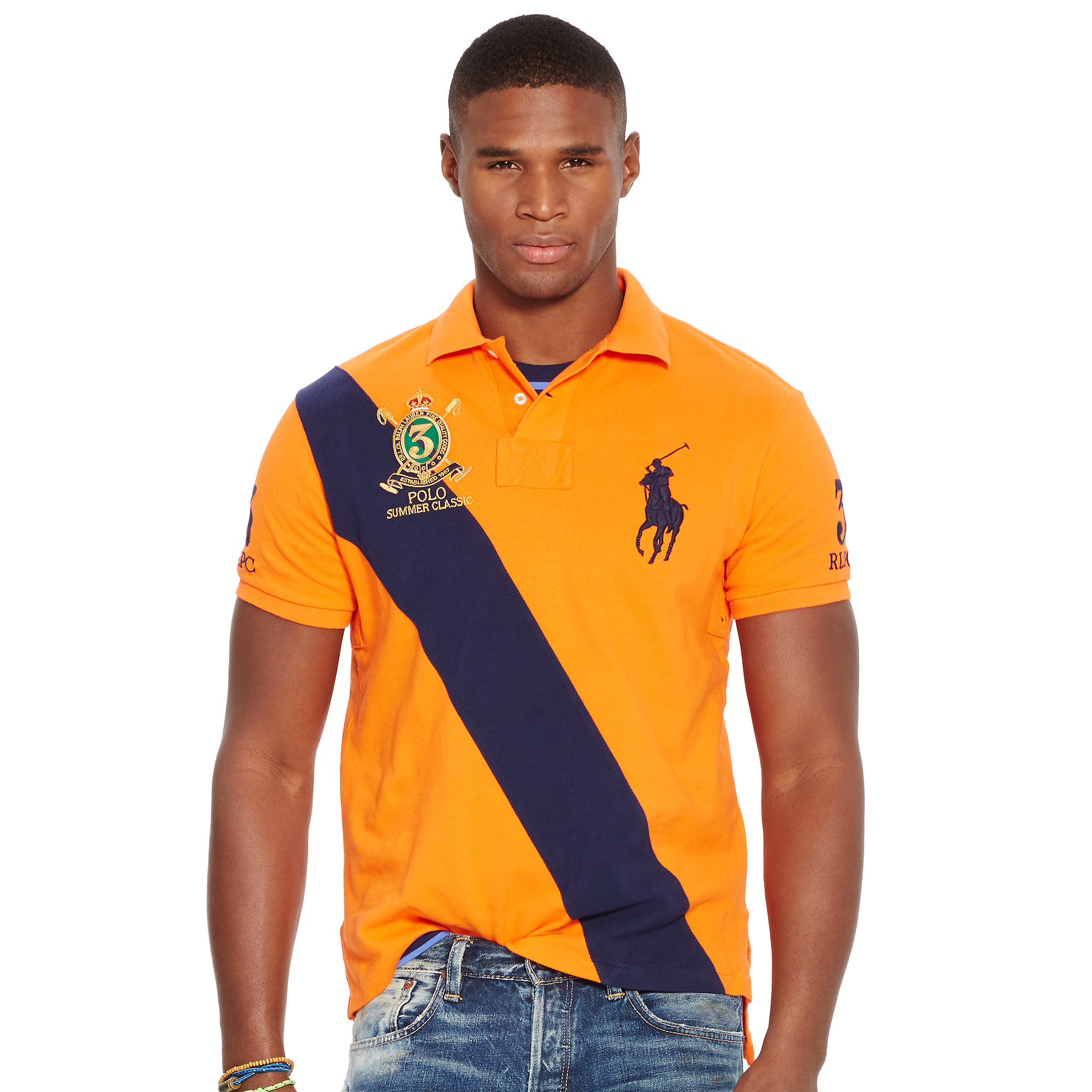 Polo Ralph Lauren | Yellow Custom-fit Banner Polo Shirt for Men | Lyst. View Fullscreen