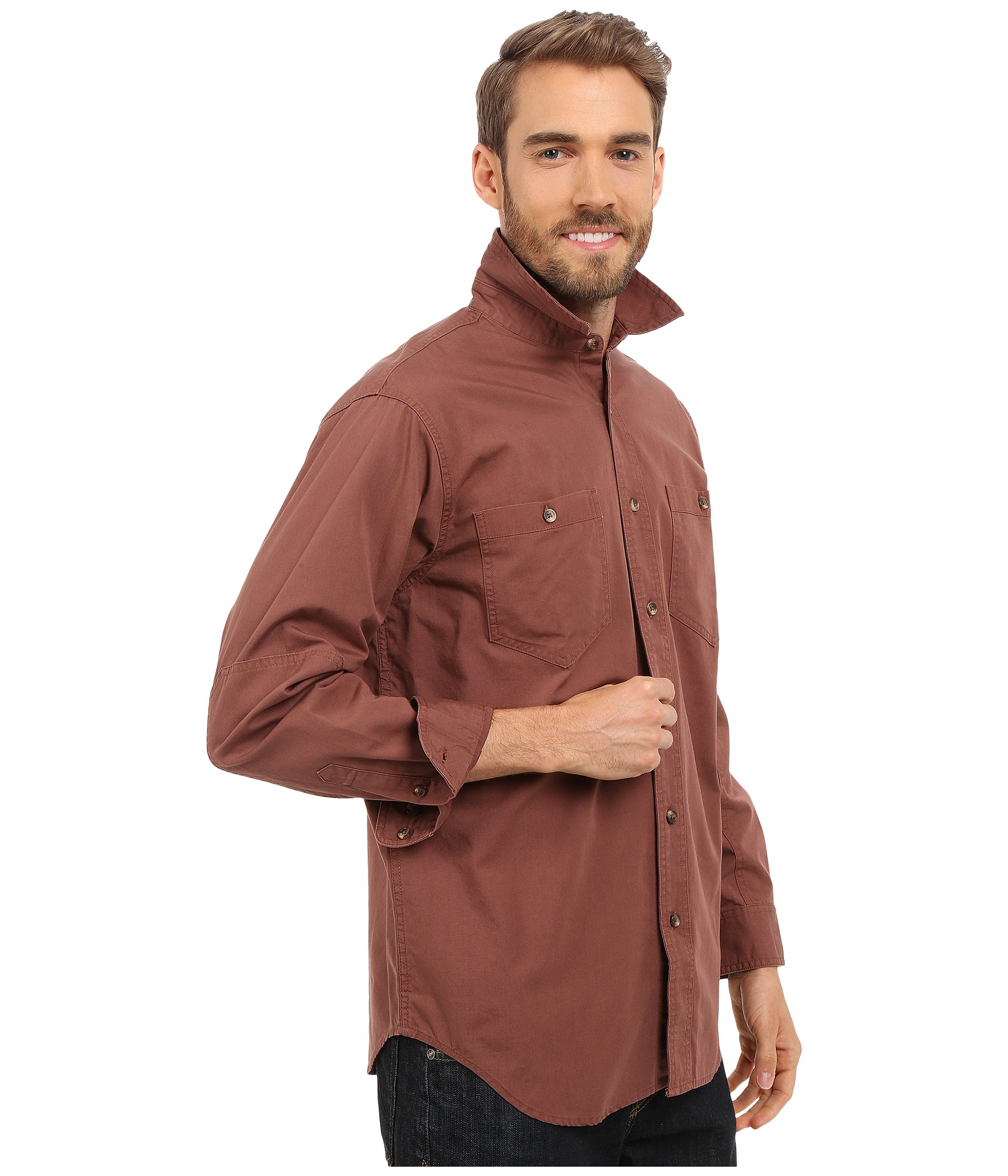 Filson Buckhorn Field Shirt in Red for Men | Lyst