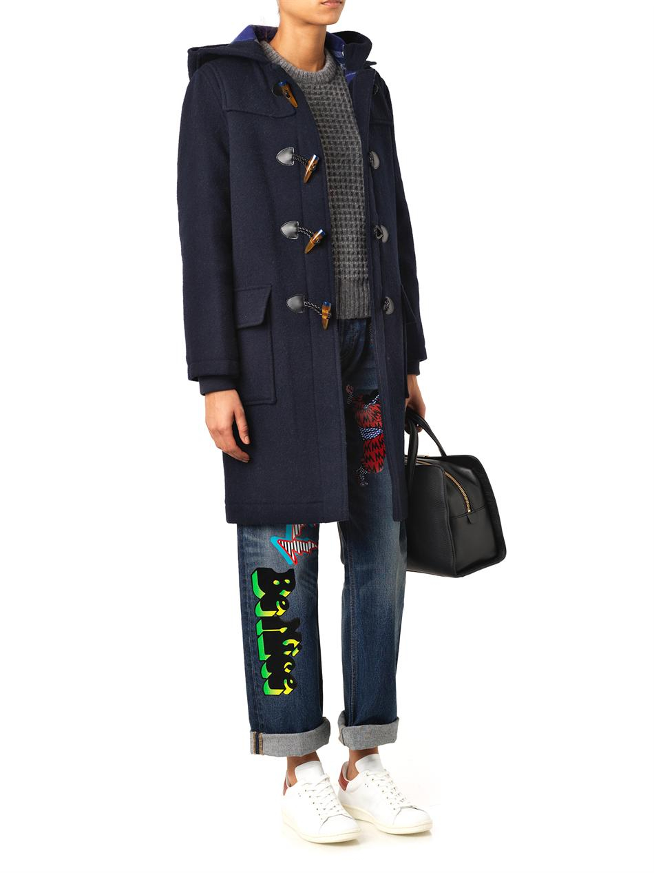 Marc by marc jacobs Paddington Wool Duffle Coat in Blue | Lyst